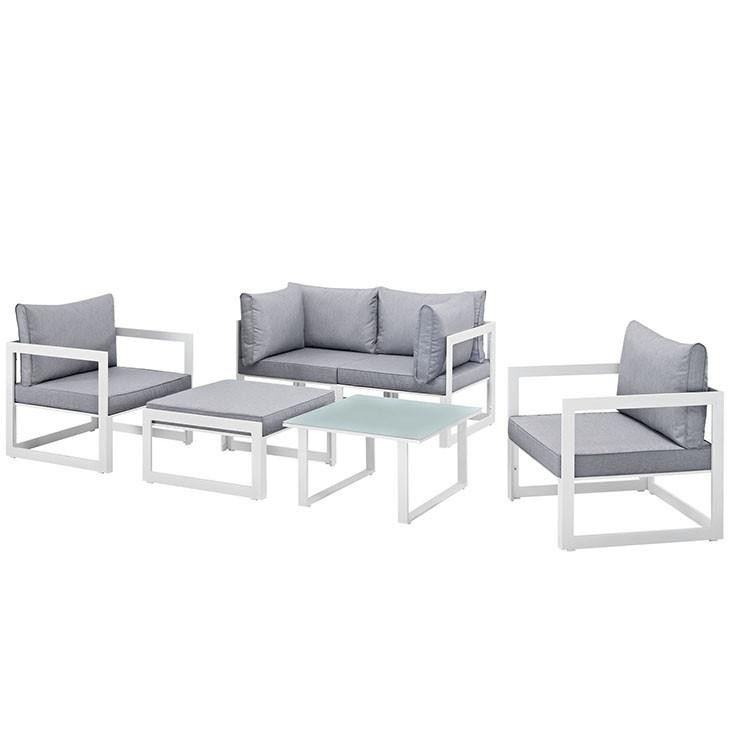 Alfresco 6 Piece Outdoor Patio Sectional Sofas Set - living-essentials