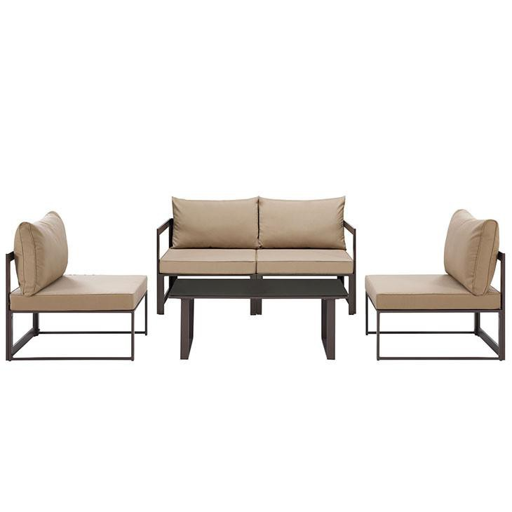 Astonishing Alfresco 5 Piece Outdoor Patio Loveseat Set Ocoug Best Dining Table And Chair Ideas Images Ocougorg