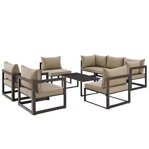 Alfresco 8 Piece Outdoor Patio Sofa Set Sofas Free Shipping