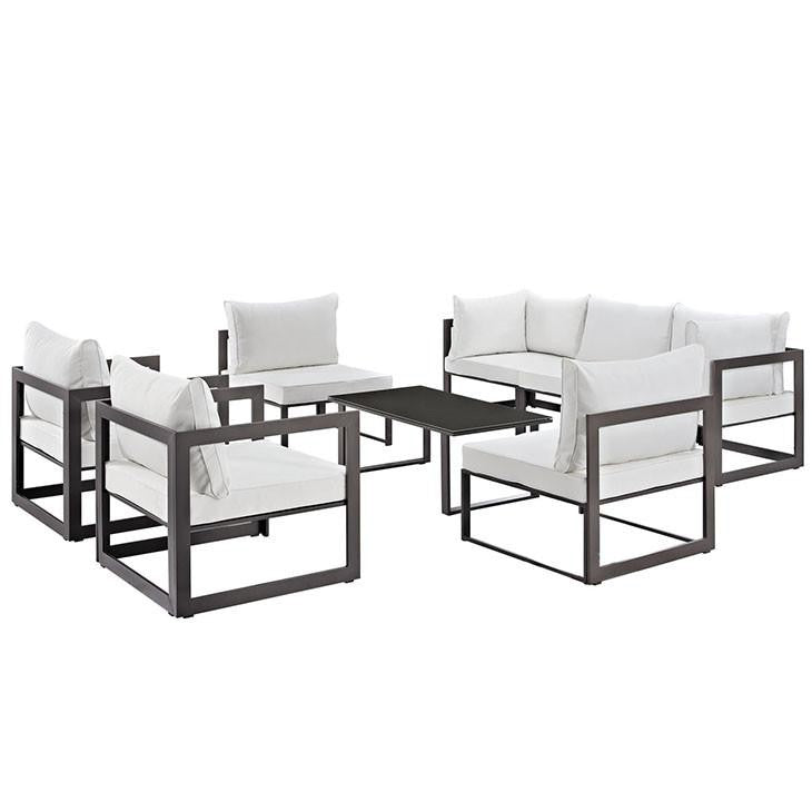Alfresco 8 Piece Outdoor Patio Sofa Set - living-essentials