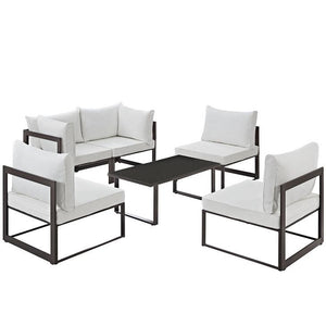 Alfresco 6 Piece Outdoor Patio Sectional Sofa Set Sofas Free Shipping