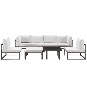 Alfresco 8 Piece Outdoor Patio Sectional Sofa Set Sofas Free Shipping