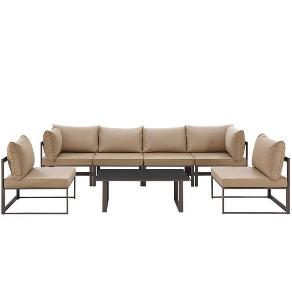 Alfresco 7 Piece Outdoor Patio Sofa Set - living-essentials