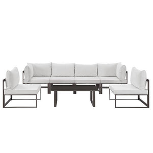Alfresco 7 Piece Outdoor Patio Sofa Set Sofas Free Shipping