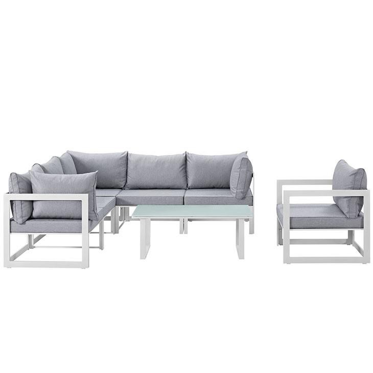 Alfresco 7 Piece Outdoor Patio Sectional Sofa Set - living-essentials