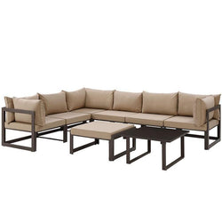 Alfresco 8 Piece Outdoor Patio Sectionals Sofa Set - living-essentials