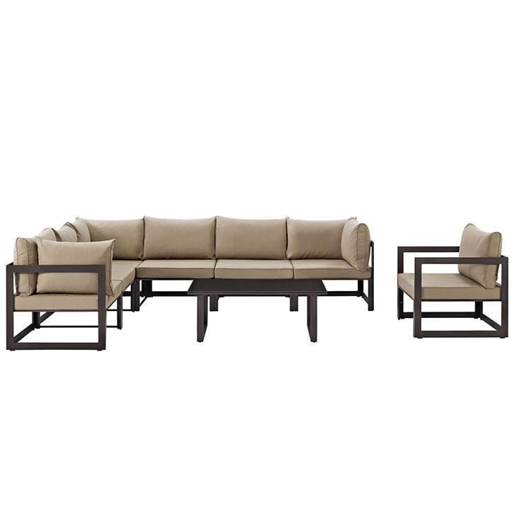 Alfresco 8 Piece Outdoor Patio Sectional Sofa Set - living-essentials