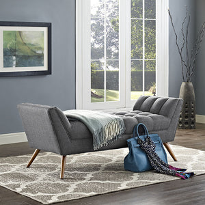Echo Medium Fabric Bench Azure Benches & Daybeds Free Shipping