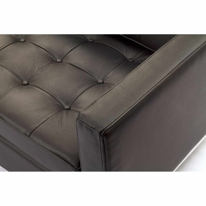 Knoll Style Leather Loveseat - living-essentials