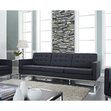 knoll style wool sofa emfurn 1 - Mad Men Sofa