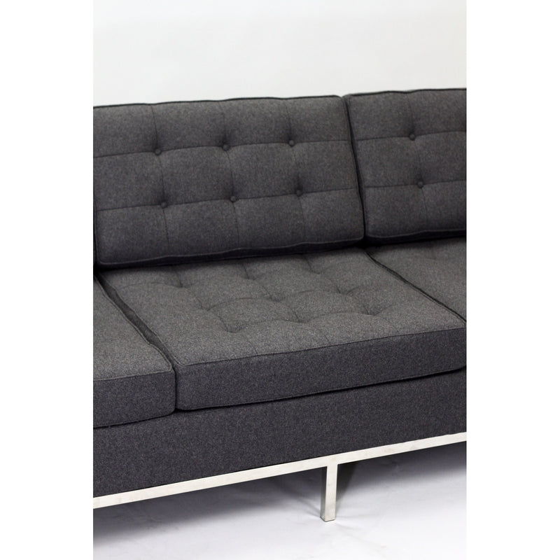 Florence Knoll Style Wool Sofa - living-essentials