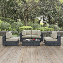 Santa Maria 5 Piece Outdoor Patio Sectional Set - living-essentials