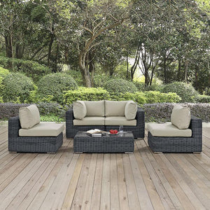 Santa Maria 5 Piece Outdoor Patio Sectional Set Sofas Free Shipping