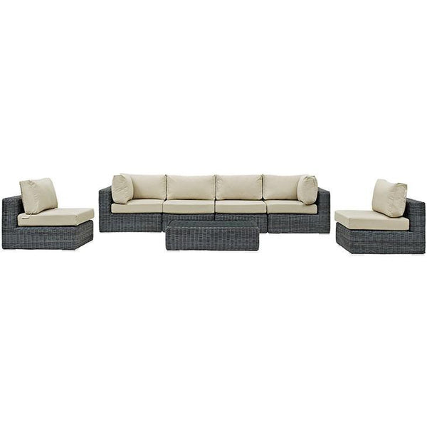 Santa Maria 7 Piece Outdoor Patio Sectional Set - living-essentials