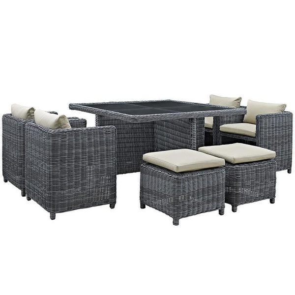 Santa Maria 9 Piece Outdoor Patio Dining Set - living-essentials