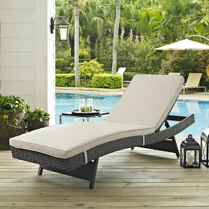 Mont Royal Sunbrella Outdoor Patio Chaise - living-essentials