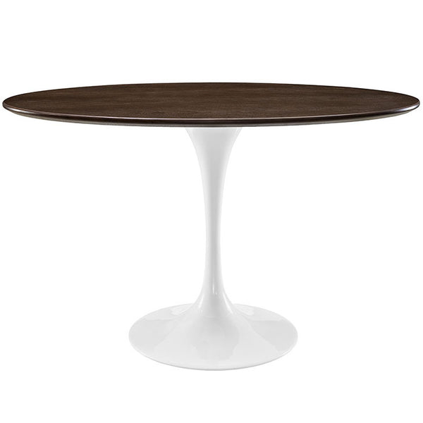 "Tulip Style 48"" Oval Shaped Walnut Dining Table - living-essentials"