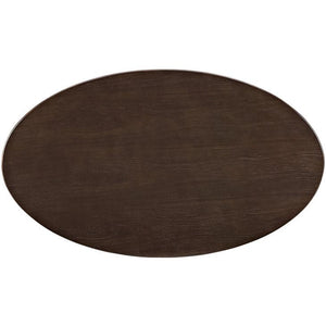 Tulip Style 48 Oval Shaped Walnut Coffee Table Free Shipping