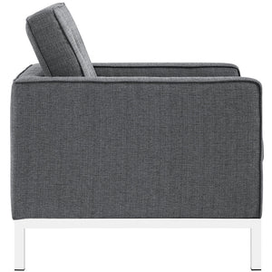 Florence Knoll Style Fabric Armchair Gray Chairs Free Shipping