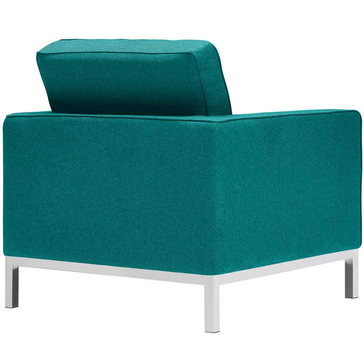 Florence Knoll Style Fabric Armchair - living-essentials