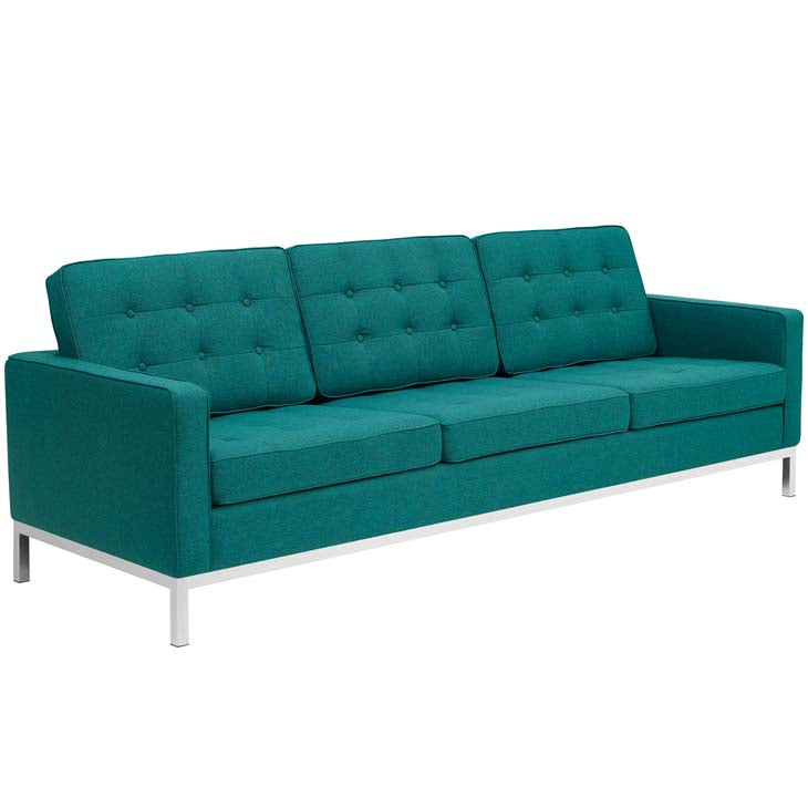 Florence Knoll Style Fabric Sofa - living-essentials