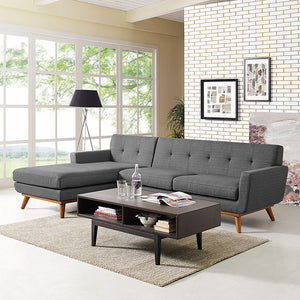 Queen Mary Left-Facing Sectional Sofa Gray Free Shipping