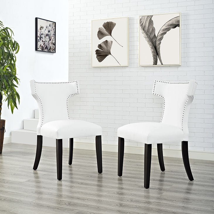 Swerve Vinyl Dining Chair - living-essentials
