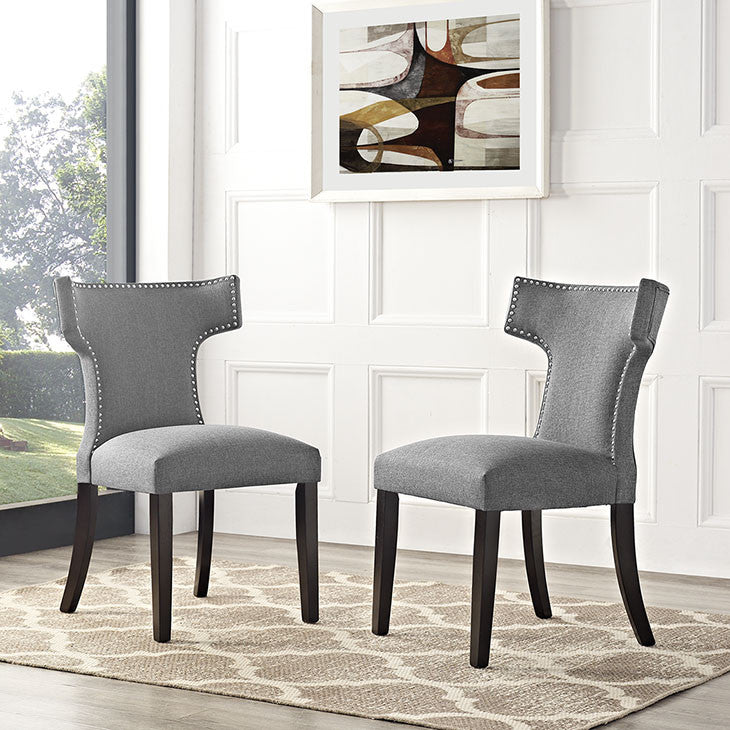 Swerve Fabric Dining Chair - living-essentials
