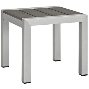 Wharf Outdoor Side Table Silver Gray Free Shipping