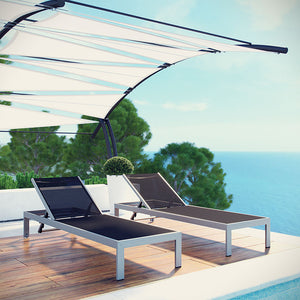 Wharf Outdoor Patio Aluminum Mesh Chaise Lounge Daybeds Free Shipping