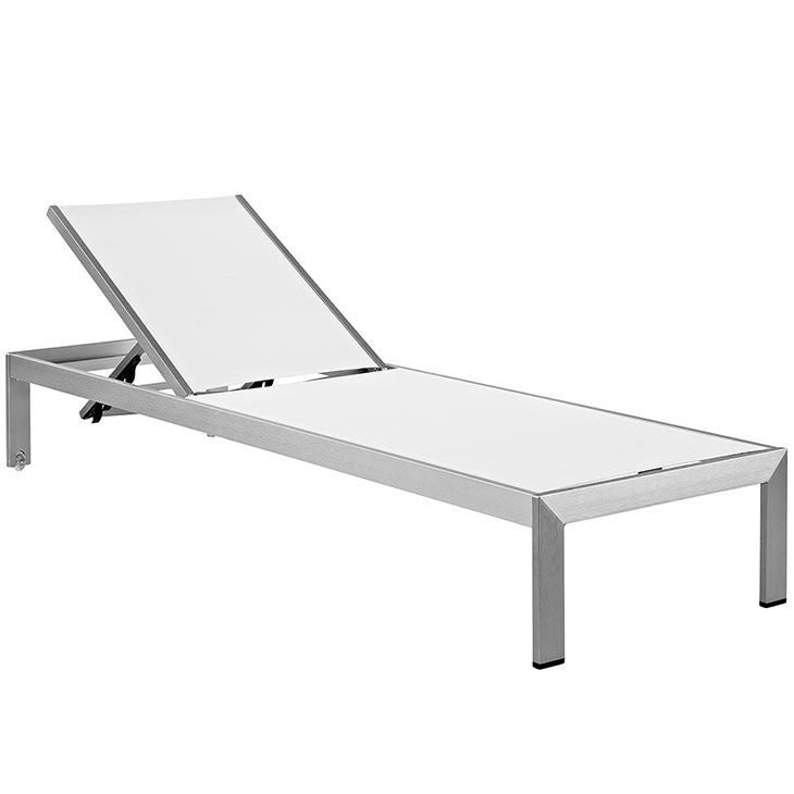 Wharf Outdoor Patio Aluminum Mesh Chaise Lounge - living-essentials