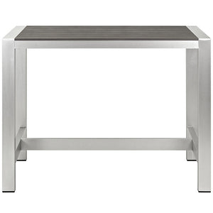Wharf Outdoor Aluminum Bar Table Outdoor Free Shipping