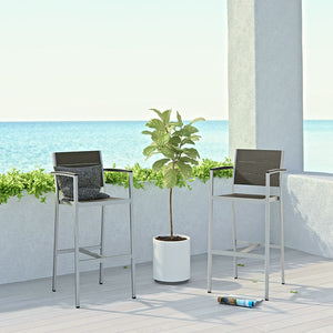 Wharf Outdoor Aluminum Bar Stool Chairs Free Shipping
