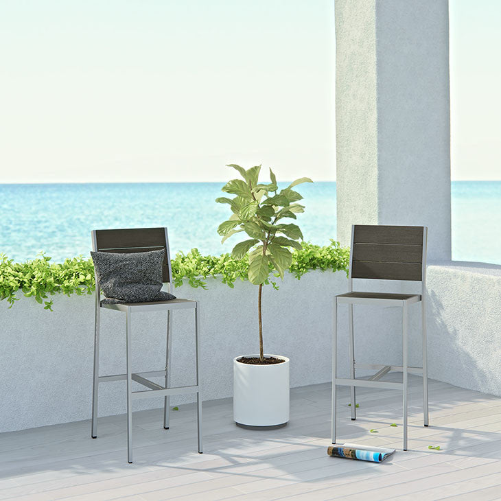 Wharf Outdoor Armless Bar Stool - living-essentials