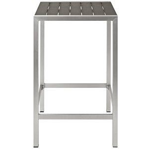 Wharf Outdoor Aluminum Bar Table Free Shipping