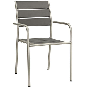 Wharf Outdoor Aluminum Dining Arm Chair Chairs Free Shipping