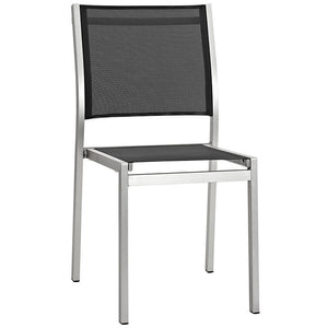 Wharf Outdoor Aluminum Mesh Dining Side Chair Chairs Free Shipping