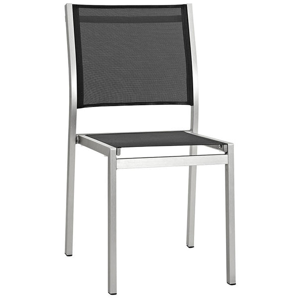 Wharf Outdoor Aluminum Mesh Dining Side Chair - living-essentials