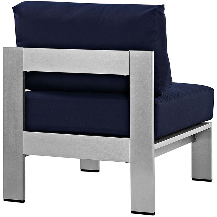 Wharf Armless Outdoor Patio Aluminum Chair - living-essentials