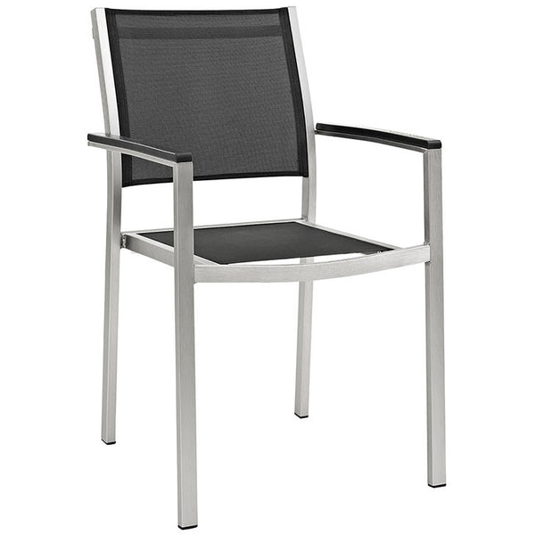 Wharf Outdoor Aluminum Mesh Dining Armchair - living-essentials