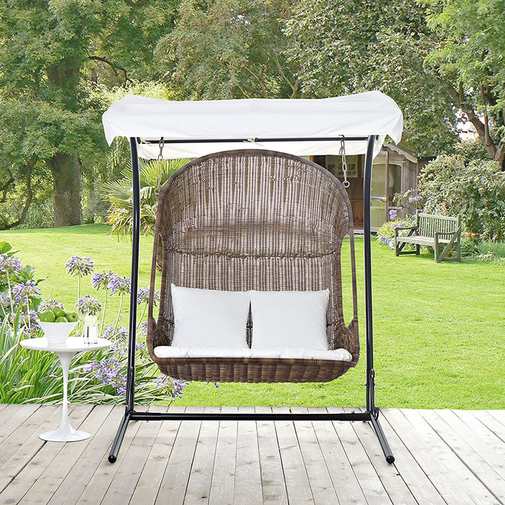 Viewpoint Outdoor Patio Wood Swing Chair - living-essentials