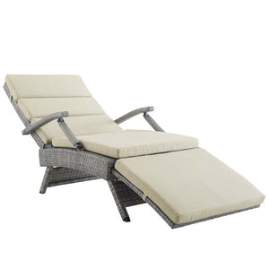 Envisage Chaise Outdoor Patio Wicker Rattan Lounge Chair