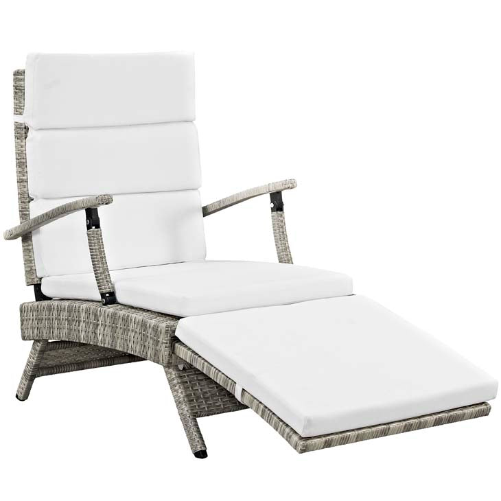 Envisage Chaise Outdoor Patio Wicker Rattan Lounge Chair - living-essentials