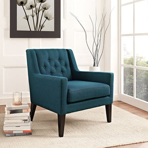 Bernie Fabric Armchair Azure Accent Chairs Free Shipping