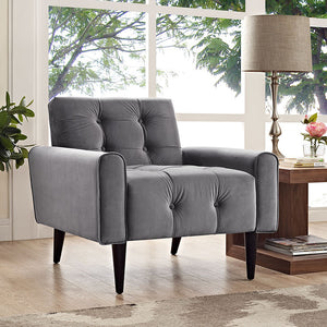 Derby Velvet Armchair Gray Accent Chairs Free Shipping
