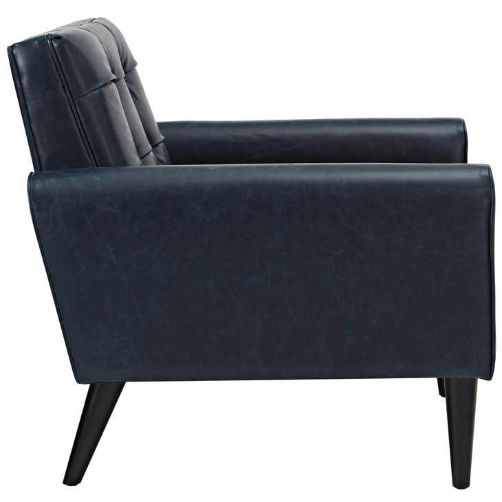 Hunt Upholstered Vinyl Arm Chair - living-essentials