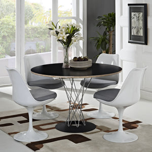 Noguchi Style Cyclone Dining Table Black / Chrome Free Shipping