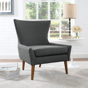 Kyle Fabric Armchair Gray Accent Chairs Free Shipping