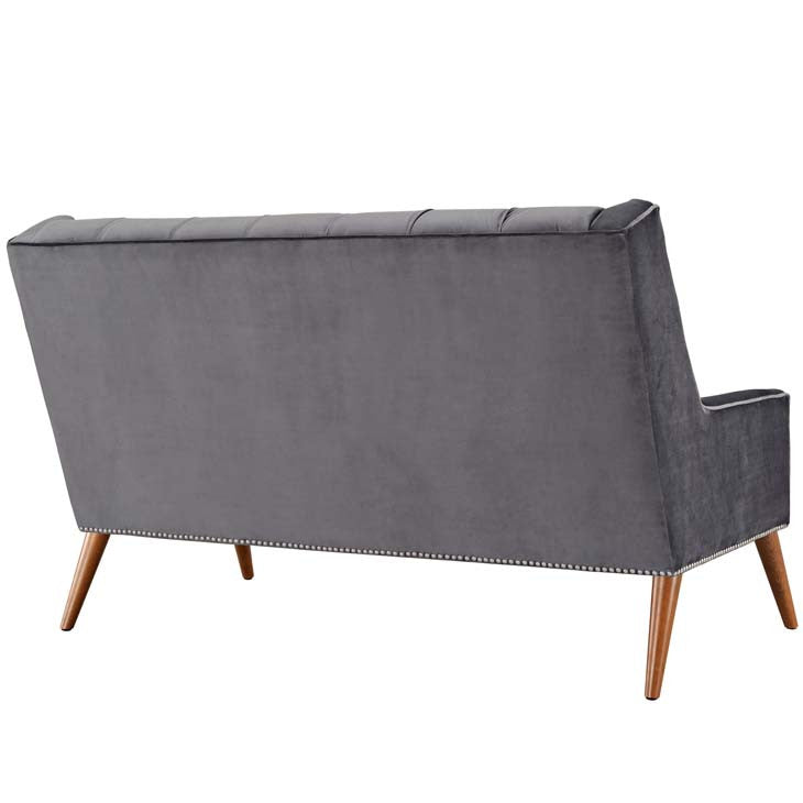 Percy Velvet Loveseat - living-essentials