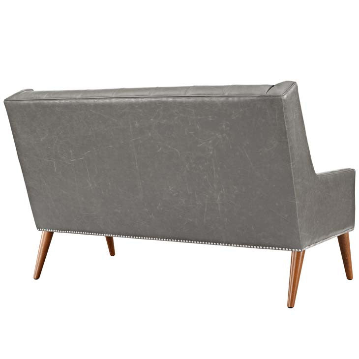 Percy Vinyl Loveseat - living-essentials